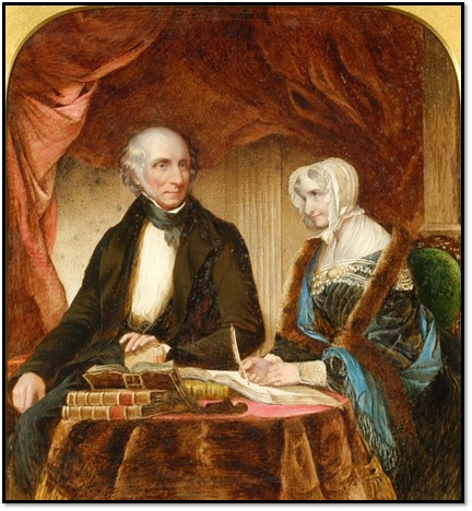 William Wordsworth with his sister Dorothy